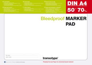 transotype Bloc pour marqueur, A4, 70 g/m2, 50 feuilles