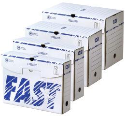 25 boîtes d'archives, 250 x 330 mm, largeur de dos: 80 mm - FAST