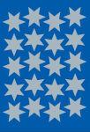 HERMA Autocollants de Noel DECOR 'étoiles', 21 mm, argent