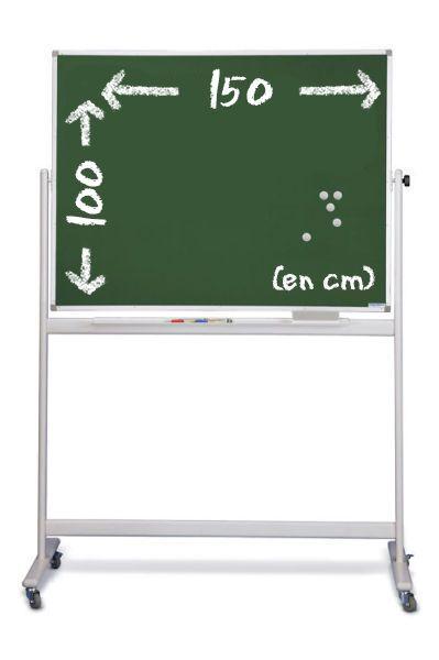 tableau craie vert magn tique mobile 150 cm x 100 cm. Black Bedroom Furniture Sets. Home Design Ideas