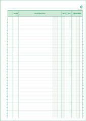 EXACOMPTA Manifold 'Recettes et Dépenses', 297 x 210 mm