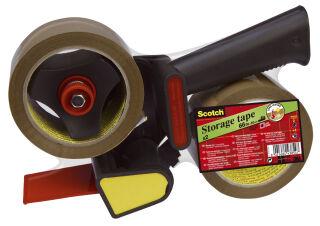 Scotch Dévidoir 309R2D pour ruban adhésif d'emballage, noir