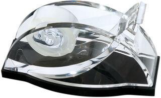 WEDO Dévidoir bureau 'acrylique exclusif', transparent/noir