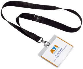 DURABLE Badge, avec lacet textile 20, 90 x 60 mm, noir