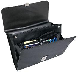 WEDO Porte-documents Elegance, cuir synthétique/nylon, noir
