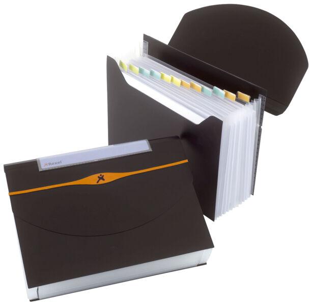 rexel porte documents optima a4 13 compartiments pp bleu achat vente rexel 52102486. Black Bedroom Furniture Sets. Home Design Ideas