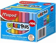 Boîte de 100 craies pour tableaux - Couleurs assorties