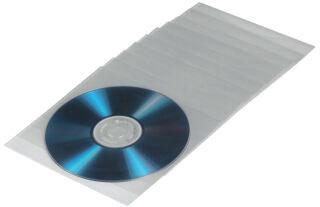 hama Pochette pour CD/DVD, PP, transparent, ouvert en haut
