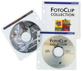 hama pochette CD/DVD, pour 2 CD/DVD, PP, transparent