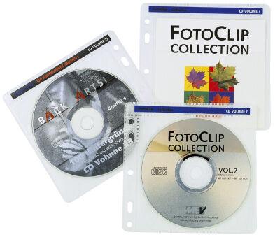 hama Pochette pour 2 CD/DVD, PP, transparent, 40 pièces