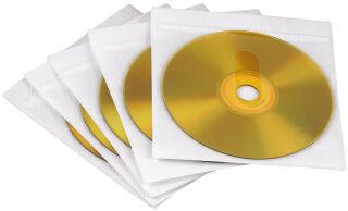 hama Pochette CD/DVD, pour 1 CD/DVD, PP, autocollante