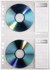 hama Pochette CD/DVD, format A4, PP, pour 2 CD, tranparent