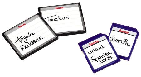 hama Etiquette pour cartes mémoire, pour cartes SD / MMC