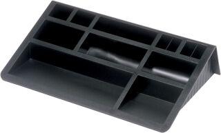 helit set de bureau avec support cartes, noir