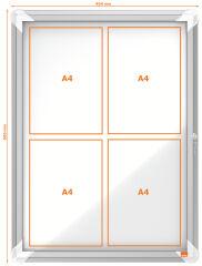 Vitrine d'affichage extérieur (4xA4) - Nobo