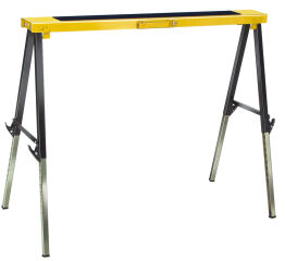 brennenstuhl Etabli de travail pliant MB 120 KH, noir/jaune