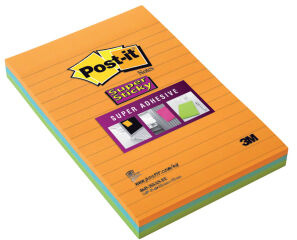 Post-it Bloc-note Super Sticky Note, 102 x 152 mm