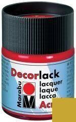 Marabu Vernis acrylique 'Decorlack', or métallique, 50 ml,