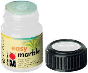Peinture pour marbrure 'Easy Marble' blanc 15 ml - Marabu