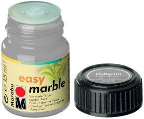 Peinture pour marbrure 'Easy Marble' argent 15 ml - Marabu