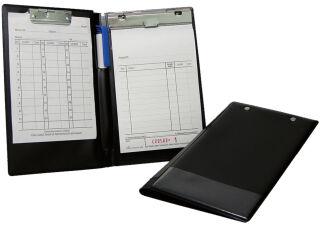 WEDO Chemise porte-bloc, format A6, noir