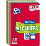 Lot de 3 cahiers + 2 offerts - A4 - Grands Carreaux - 96 pages