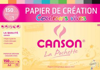 Papier de création dans une pochette, A4, 150 g/m2 - CANSON