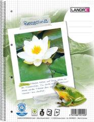 Bloc-notes Recyclé - A4 - Petits Carreaux - 80 feuilles
