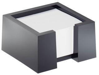 DURABLE Bloc mémo CUBO, bloc mémo élégant en plastique, noir
