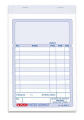 herlitz bloc de formulaires 'bloc de facture', A6, 2 x 50