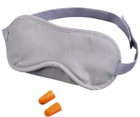 hama Kit de voyage sommeil, masque sommeil rembouré, gris