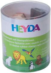 HEYDA Kit de tampons à motifs 'aminaux de zoo', en boite