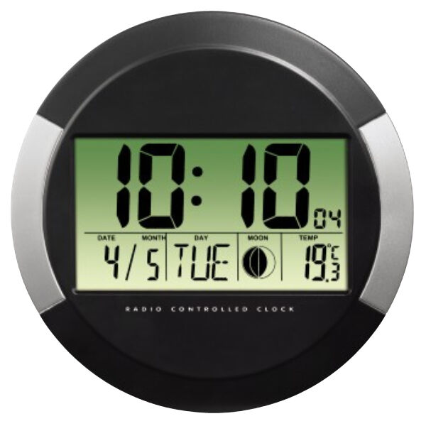 hama horloge radio pilot e 39 pp245 39 en plastique noir achat vente hama 16104936. Black Bedroom Furniture Sets. Home Design Ideas