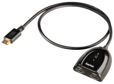hama Switch HDMI, 2 ports, 2 x 1, noir