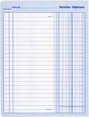 ELVE Piqûre 'Recettes/Dépenses', 80 pages, 297 x 210 mm