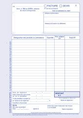 ELVE Manifold 'Facturier: auto-entrepreneurs', 40 feuillets