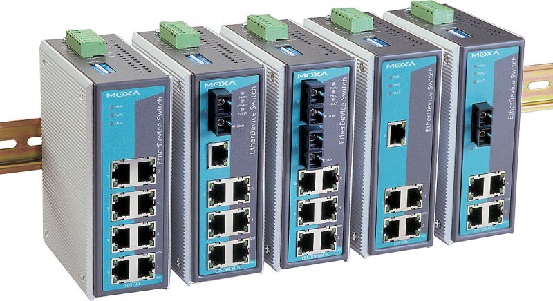 Moxa Switch Unmanaged Industriel Ethernet 4 X Ports Rj45