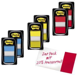 Post-it Marque-pages Index, 25,4 x 43,2 mm, pack éco, jaune