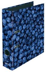 """Classeur maX.file à motif """"fraise"""" - A4 - de dos 80 mm"""