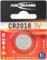 ANSMANN Pile bouton en lithium 'CR2016', 3,0 Volt, blister