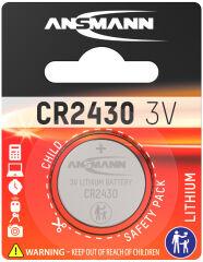 ANSMANN Pile bouton en lithium 'CR2430', 3,0 Volt, blister