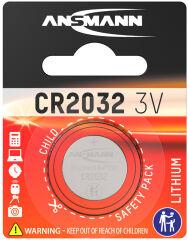 ANSMANN Pile bouton en lithium 'CR2032', 3,0 Volt, blister