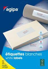 agipa Etiquette universelle, 50 x 25 mm, blanc