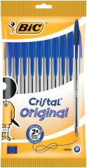 Paquet de 10 stylos bille BIC Cristal Médium Bleu