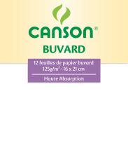 CANSON buvard, 160 x 210 mm, 125 g/m2, blanc