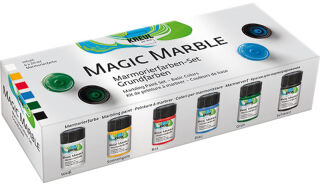 KREUL Peinture à marbrer 'Magic Marble',kit couleurs de base