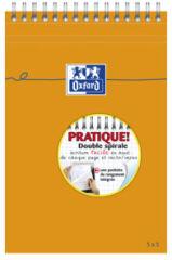 Bloc-notes A5 - 80 feuilles - Petits carreaux - Oxford