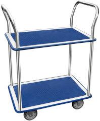 Chariot à étage, 2 plateaux, dim.: (L)730 x (l)470 mm - JPC