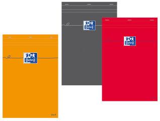 Bloc-notes A7 orange - 80 feuilles - Petits carreaux - Oxford