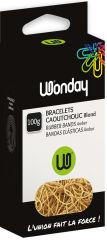 Wonday Bracelets caoutchouc, 200 mm x 10 mm, 100 g, nature